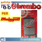 PASTIGLIE FRENO POSTERIORI BREMBO CARBON CERAMIC MALAGUTI MADISON 125 DAL 1999