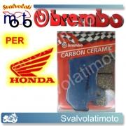 PASTIGLIE FRENO ANTERIORI BREMBO CARBON CERAMIC HONDA VF 750 CUSTOM-SPORT DAL 1982 AL 1983