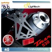 PORTATARGA REGOLABILE LIGHTECH COMPLETO LUCE TARGA E CATADIOTTRO PER YAMAHA T-MAX 530 2013-13