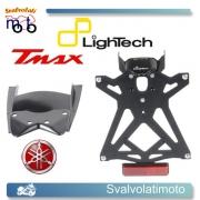PORTATARGA REGOLABILE LIGHTECH COMPLETO LUCE TARGA E CATADIOTTRO PER YAMAHA T-MAX 500 2011-11