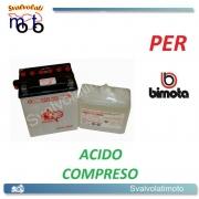 BATTERIA CB14L-A2/SM ACIDO PREDOSATO A CORREDO ONE PER BIMOTA Tesi 2d 1000 -