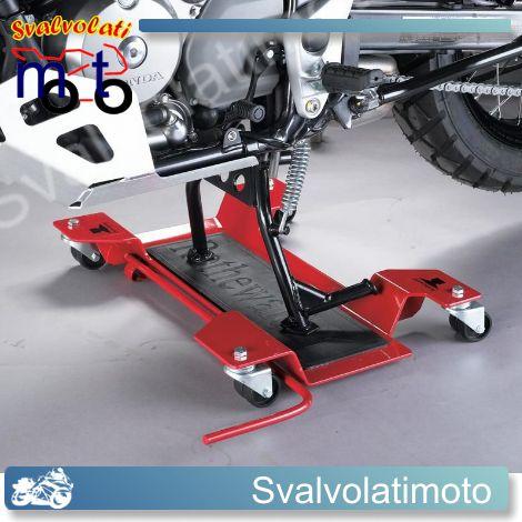 Pedana in acciaio per lo spostamento moto yamaha con for Cavalletto sposta moto
